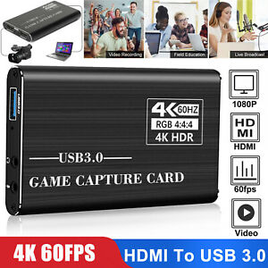 4K 1080p HD HDMI to USB 3.0 Video Capture Card Game Live Stream for PS4 Xbox one