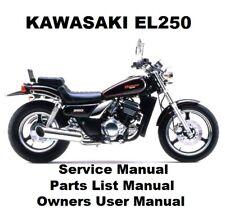genuine kawasaki el 250 eliminator 1988 on service manual rh ebay co uk kawasaki eliminator 250 workshop manual kawasaki eliminator 250 service manual download