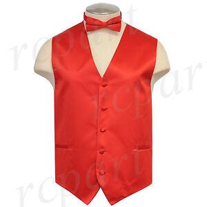 New Brand Q solid polyester men's Vest tuxedo waistcoat_bowtie red formal