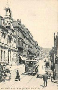 ROUEN-La-Rue-Jeanne-d-039-Arc-et-la-Poste