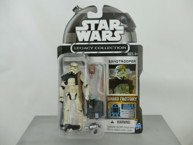 STAR WARS LEGACY COLLECTION DROID FACTORY SANDTROOPER 2013 MOC