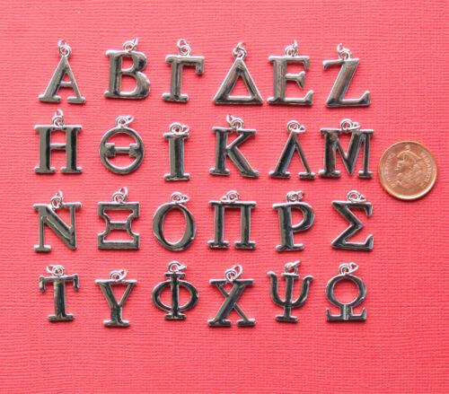 4 Phi Greek Letter Charms Antique Silver Tone SC4035