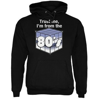 Trust Me I'm from the 80's Black Adult Hoodie