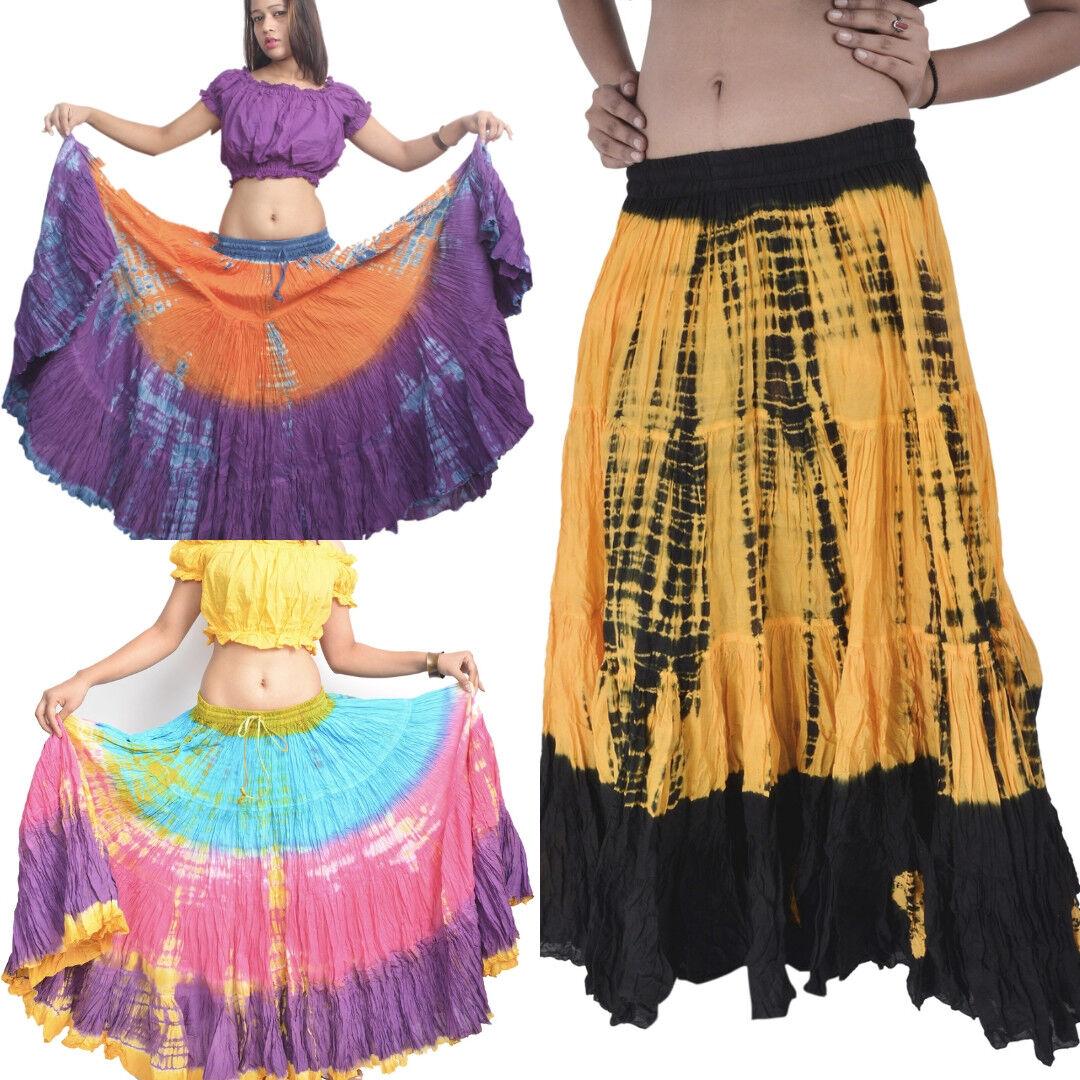 Wevez Bhangra Tribal Fusion Tie Dye 25 Yard Skirt - 13 Colours