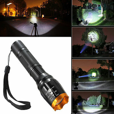 Zoomable 3000lm XM-L T6 LED 18650 Flashlight Torch Lamp Light Water Resistant