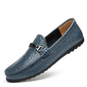 Casual schoenen bedrijf lederen Mocassins Alligator rijden Loafers patroon Mens MSVpzqU