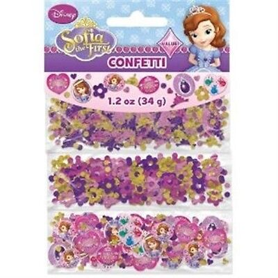 Sofia the First Confetti Scatter 34 Gram Pack Girls Licensed Party Decoration