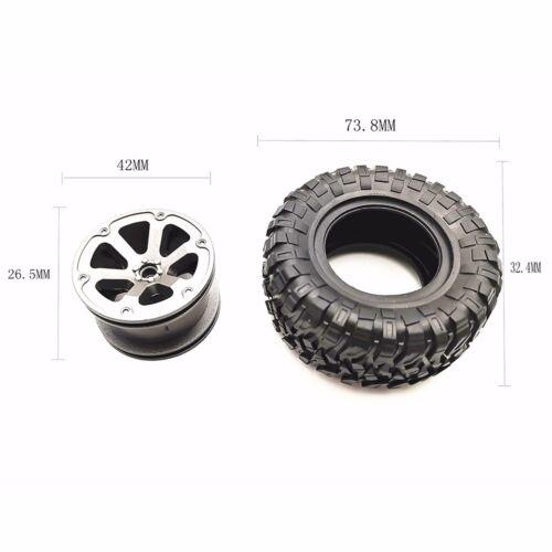 4pcs RC Car Off-Road Tires Wheels Rims Tyre For WPL B36 B14 B24 Climbing Auto
