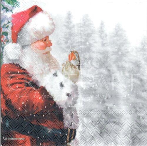 gifts Xmas -X141 Christmas winter,Santa 4 Single paper decoupage napkins