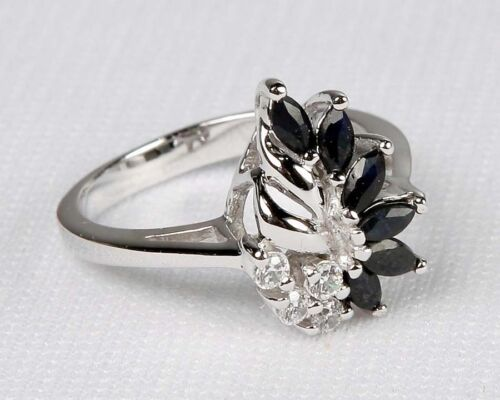 New Avon .925 Sterling Silver /& GENUINE SAPPHIRE RING Sizes Avail 5 6 7 8 9 10