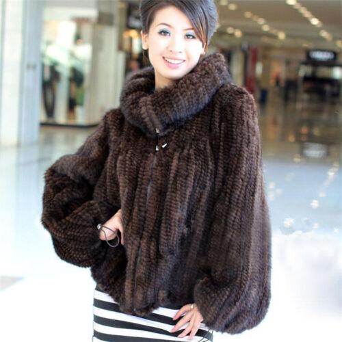sweater echte Zip uitloper 2017 Warme Dames nertsen bontjas Winter gebreide jasje 54Rjc3qAL