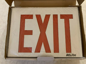 Details About New Cooper Lighting Atlite Rival Rxsn8ru Exit Sign Self Ed Red 8 Letters