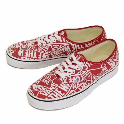 Vans Mens U Authentic OTW Repeat RED True White Size MENS US 12 | eBay