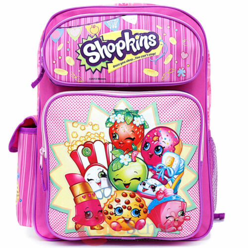 """Shopkins Large School Backpack 16/"""" inches Girls Book Bag Licensed Product"""