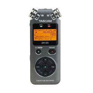 Tascam DR-05 Version 2 Handheld PCM Portable Digital Audio Recorder Grey DR05 V2 43774033058