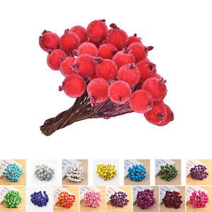40pcs-Mini-Christmas-Frosted-Fruit-Artificial-Berry-Table-Centerpiece-NT