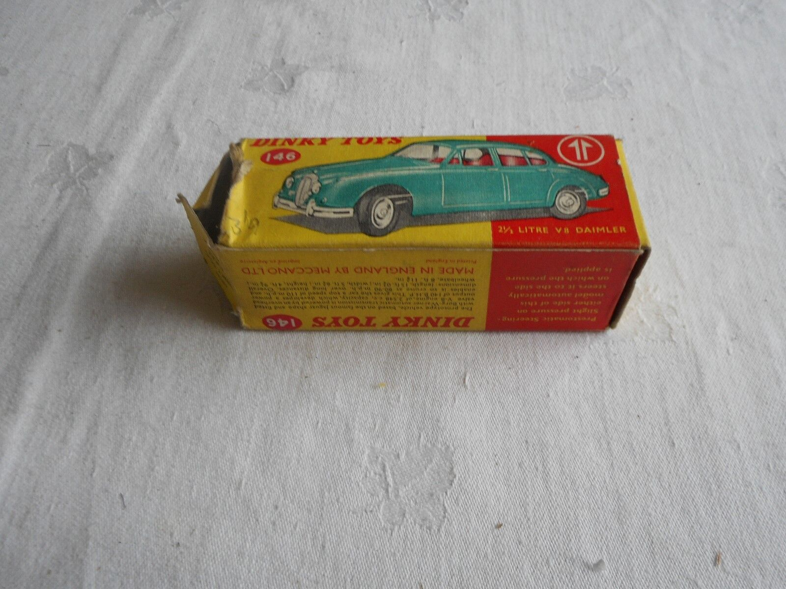 Dinky 146 2.5 Litre V8 Daimler with Police sign added to top + box
