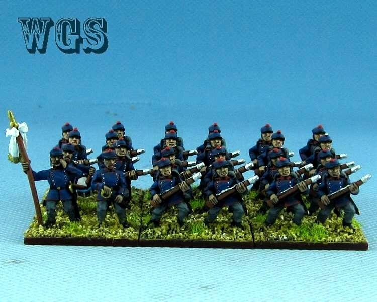 15mm Guerra Franco-Imperio prusiano Wurtenberg infantería de línea un Pintado PFC008