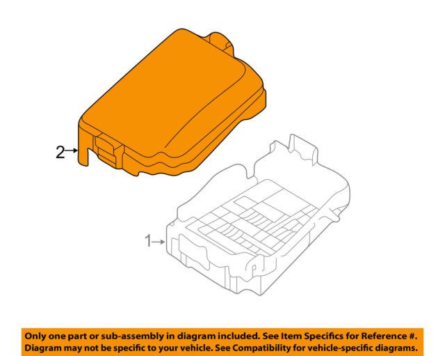 hyundai oem 2014 elantra gt 2 0l-l4 fuse relay box-upper cover 91950a5712