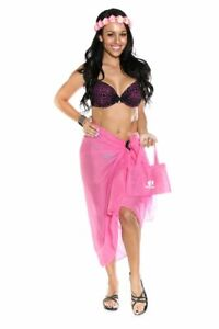 95f649096ff848 1 World Sarongs Womens Swimsuit Cover-Up Cotton Sarong in Hot Pink ...