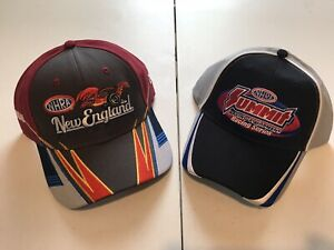 NHRA DRAG RACING 2019 NEW ENGLAND NATIONALS EVENT HAT plus the 09 SUMMIT HAT