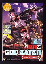 *NEW* god eater *13 anime episodes*ENGLISH SUBTITLES*free shipping*USA SELLER*