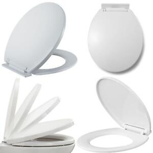 Luxury Bathroom Slow Soft Close White Toilet Seat Seats Wc