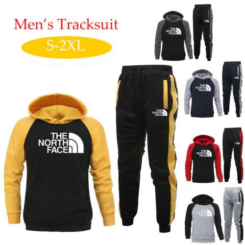 Men/'s Tracksuit Set Hoodies Tops Jogger Bottoms Tousers Sportswear Suit Running