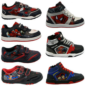BOYS-INFANT-AMAZING-SPIDERMAN-SCHOOL-FASHION-TRAINERS-VELCRO-KIDS-SHOES-NEW