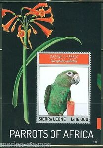 Ouvert D'Esprit Sierra Leone 2014 Parrots Of Africa Souvenir Sheet Mint Nh Et D'Avoir Une Longue Vie.