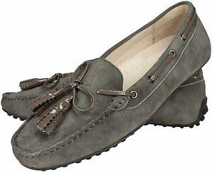Mokassins-Velours-Leder-Grau-Noppensohle-loafer-leather-grey-pebbled-rubber-sole