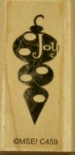 NEW MSE! My Sentiments Exactly! Mounted Wood Rubber Stamp C459 Joy