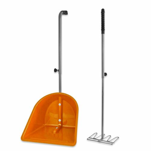 New heavy duty adjustable horse poop scoop manure scoop and rake choose a colour