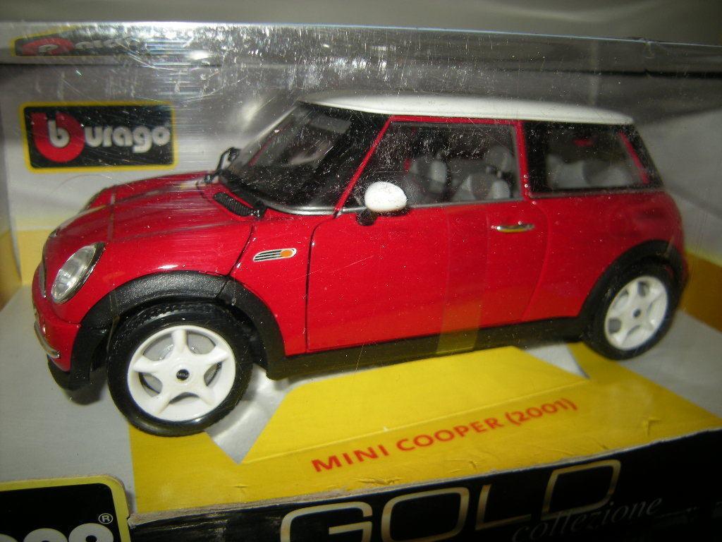 1 18 Bburago gold Mini Cooper 2001 red red in OVP