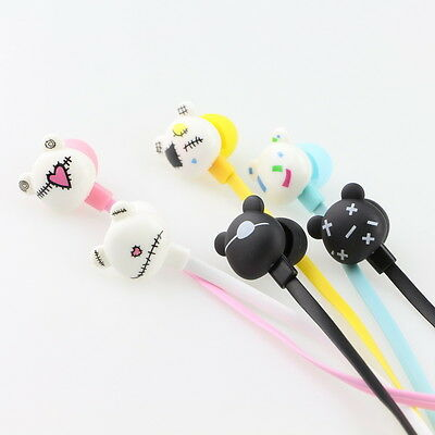 Lovely Cartoon Earphones - In-Ear Earbuds 3.5 mm - Gloomy Bear - 6 Colors