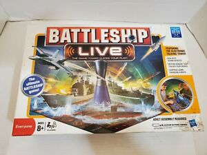 Battle Ship Live Game Tower Board Ships Plane Cannons Complete Pre-Owned Tested