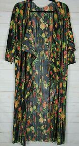Lularoe-Donna-Shirley-Nero-Con-Multi-Colore-Floreale-Kimono-Taglia-M-Nuovo-con-etichette