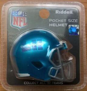 NFL SUPER BOWL 52 HELMET RIDDELL MINI SPEED POCKET PRO EAGLES V ... d2fe84aa2