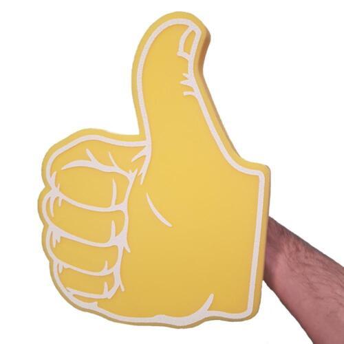 Thumbs Up/pollici verso il basso GIALLO GRANDE in schiuma a mano PROMOZIONALE TV pubblico Pollice Prop