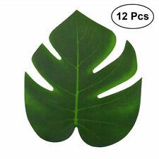12X Tropical Beach Jungle Palm Decoration Leaf Artificial Party Luau Hawaiian
