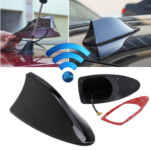 Car SUV Auto Roof Radio AM//FM Signal Shark Fin Aerial Antenna Replacement Black