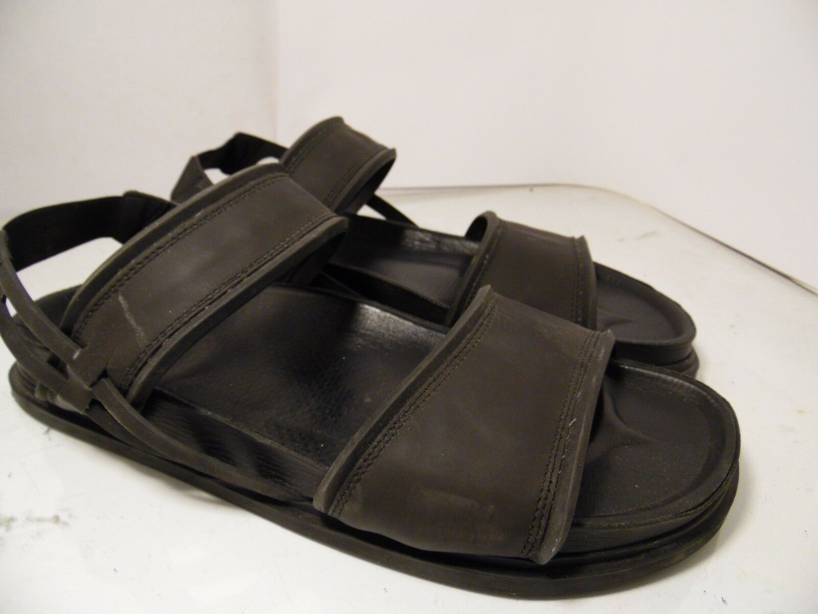 8f9ae3b44f8c Zara Man Black Rubber Sandals Fisherman Fisherman Fisherman Sling Back Mens  Size 45 Made in Spain ...