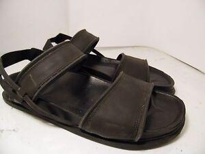 de87d147f888 Zara Man Black Rubber Sandals Fisherman Sling Back Mens Size 45 Made ...