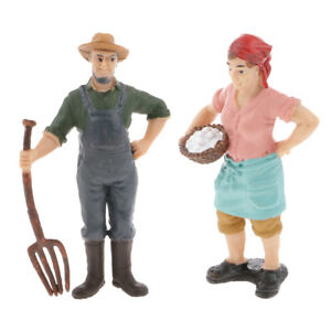 Lifelike Male Rancher People Model Toy Yard Action Figures Home Decorative