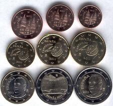 manueduc   ESPAÑA 2011 Las  9 monedas con 2 Euros Conmemorativos SIN CIRCULAR