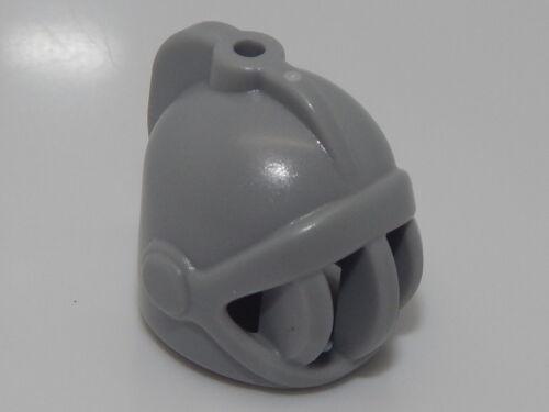 Lego Minifigure Headgear Helmet Castle with Fixed Face Grille LB Gray  HP#22