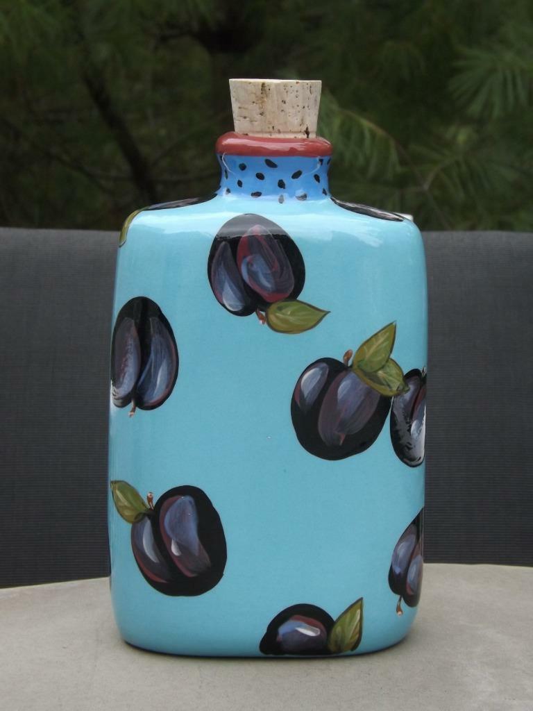 NEUF sans étiquette droll Designs prune Huile d'Olive Jar Bouteille EXC