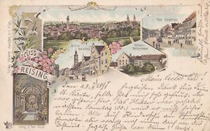 AK Freising, Weihenstephan, Mittlere und Obere Hauptstr.; gel am 28.5.1897