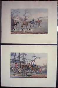 Alkin-034-The-Death-034-and-034-Unkenneling-034-Pair-1841-Etchings