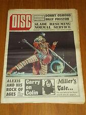 DISC AND MUSIC ECHO SEPTEMBER 8 1973 SLADE DONNY OSMOND BILLY PRESTON